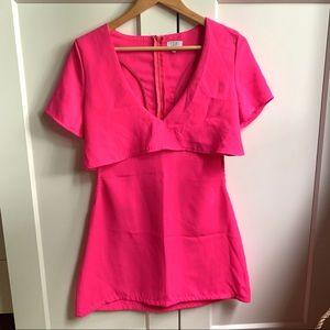 TOBI Hot Pink Dress with side cutouts